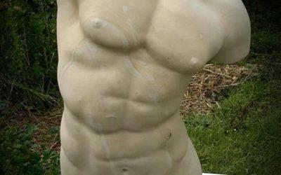 "Sculpture en pierre de Caen – ""Buste d'Hercule"""