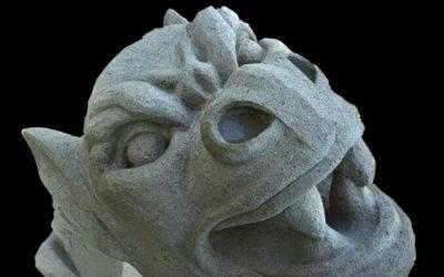 "Sculpture en pierre massangis ""Gargouille"""