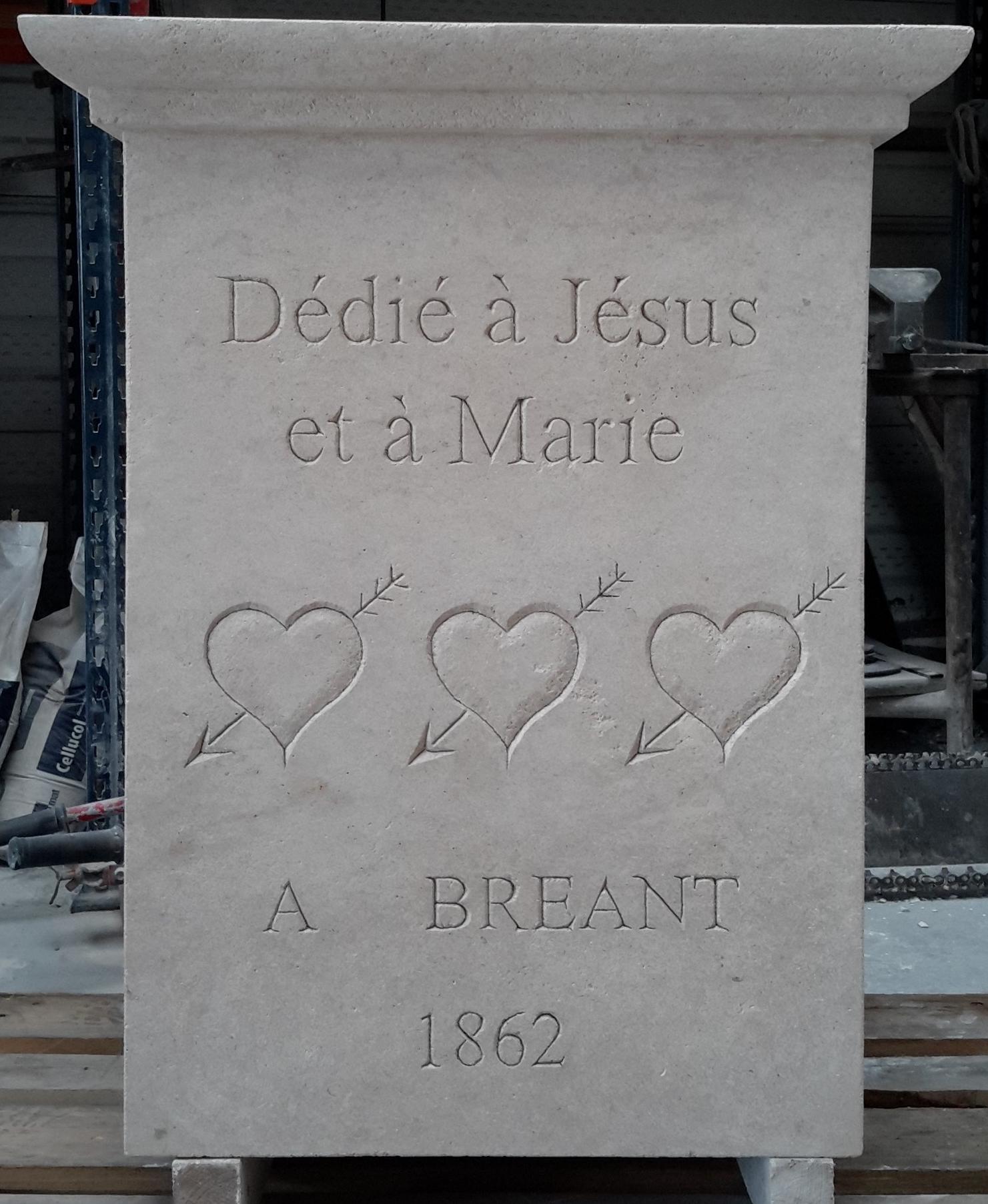gravure en pierre