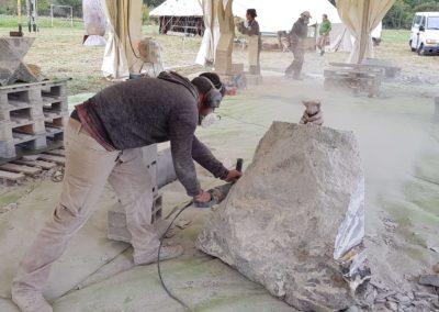 Réalisation sculpture en marbre grand antique - Minotraure