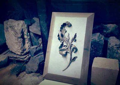Sculpture sur pierre brautel - Feuille d'Acanthe