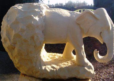 Sculpture sur pierre de Caen - Sculptures animaux