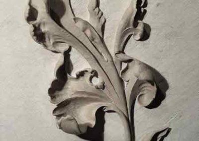 Sculpture sur pierre - Feuille d'Acanthe