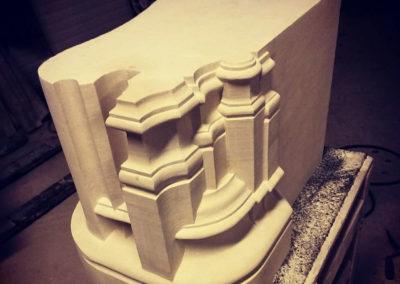 Cheminée gothique en pierre de Richemont - Avant montage
