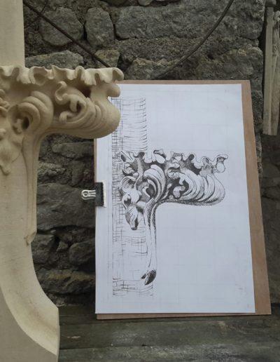 Crochet gothique en pierre de Tercé