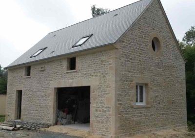 Façade en pierre pour un pavillon maison en Normandie (Après)
