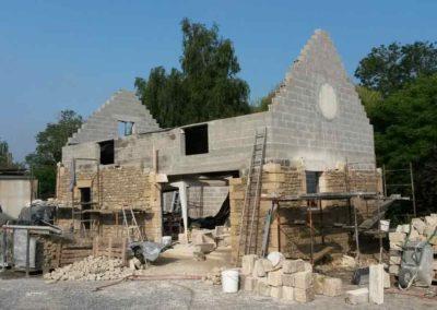 Façade en pierre pour un pavillon maison en Normandie