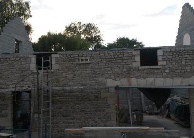 Habillage de façade pavillon, maison - Moellons et pierre de taille