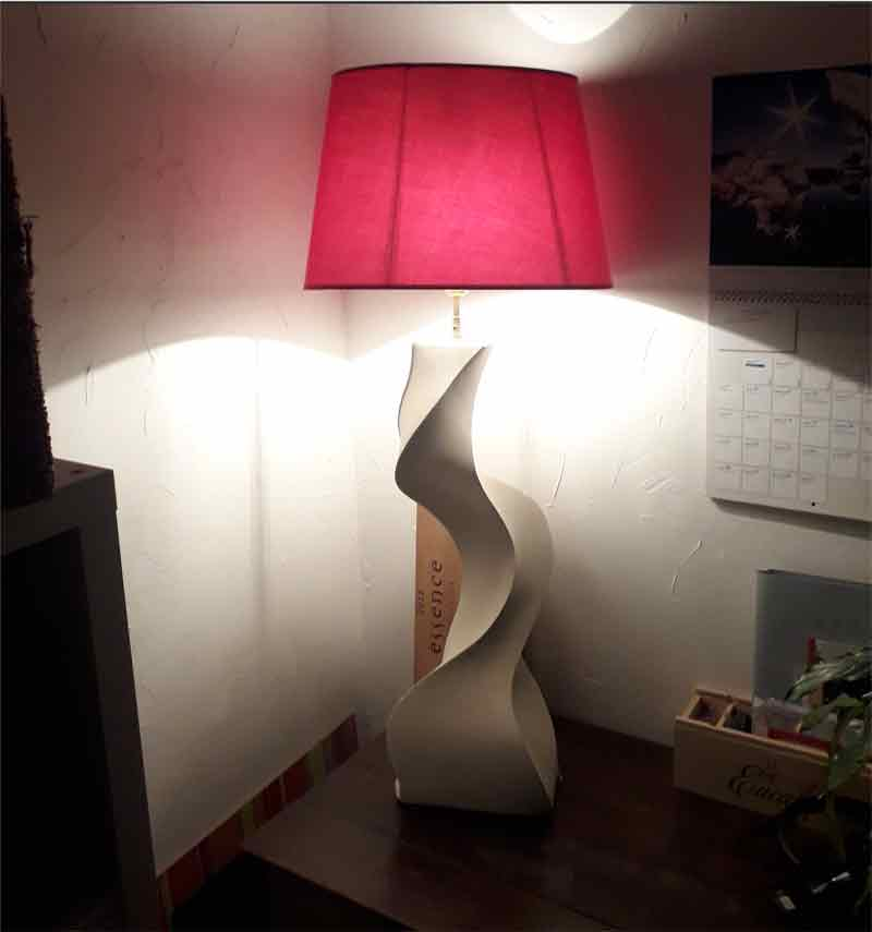 Lampe contemporaine en pierre de Caen - Taille de pierre - Morgan Roulland