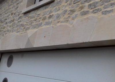 LInteau plâte - Bande de 3m appareillé en pierre de Caen