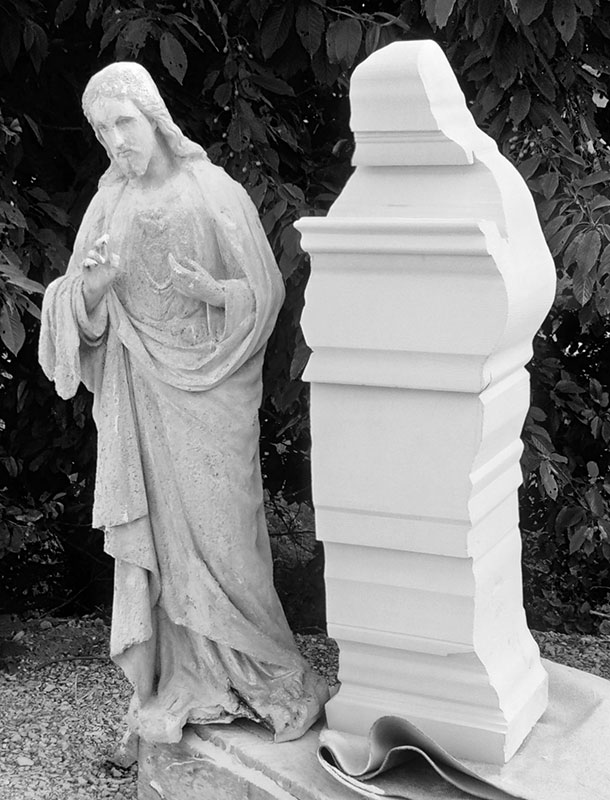 Maquette en plâtre pour reproduction en pierre de Richemont