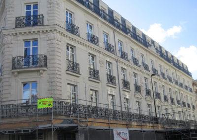 Restauration de façade dans le centre villes de Nantes