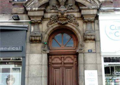 Restauration d'un porte en pierre à Rouen (Avant)