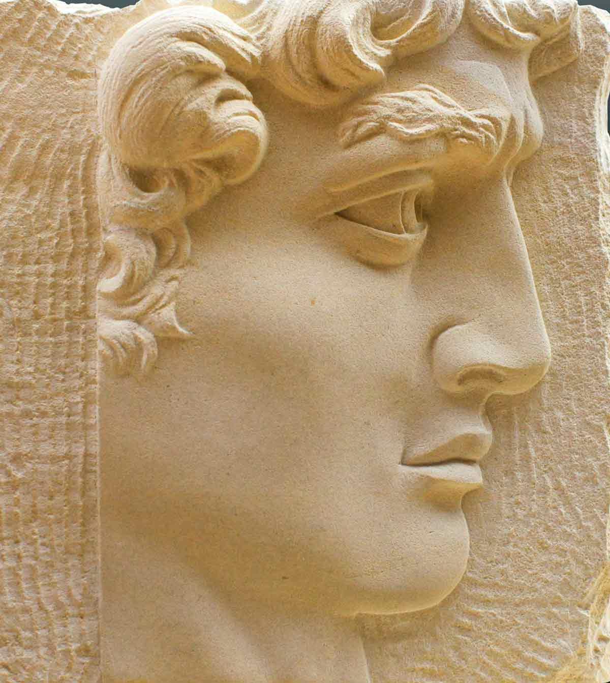 Sculptures sur pierre - Bas refief David en pierre de Caen