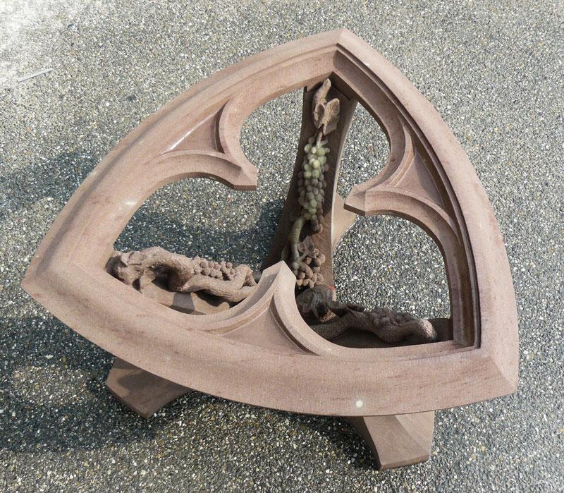 Table basse en grés - Taille de Pierre - Morgan Roulland