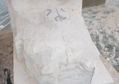 Mascaron pierre de Vérnon