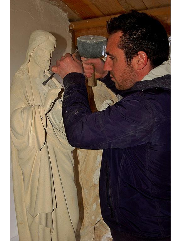 Christ en pierre de Richemont - Morgan Roulland